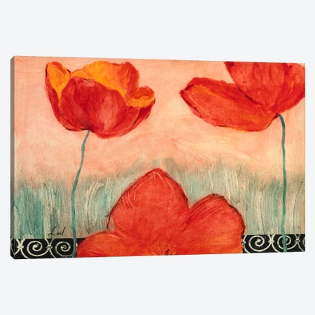 Red Flowers Canvas Print #9067} by Pablo Esteban Canvas Art