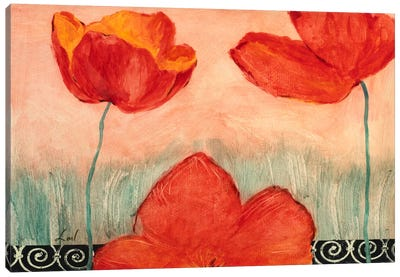 Red Flowers Canvas Print #9067