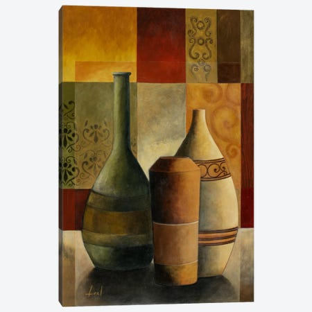 Three Vases Canvas Print #9071} by Pablo Esteban Canvas Art