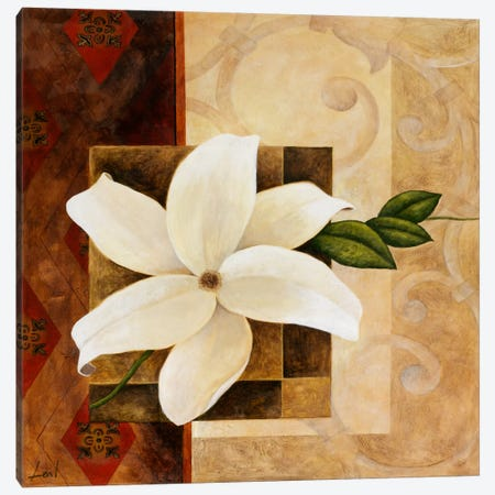 White Flower Canvas Print #9073} by Pablo Esteban Canvas Artwork