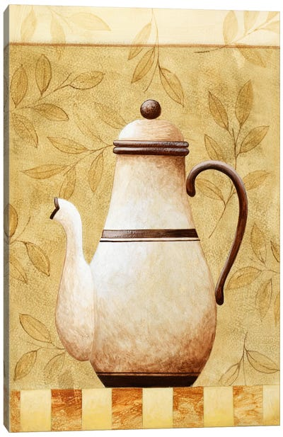 White Teapod Canvas Art Print