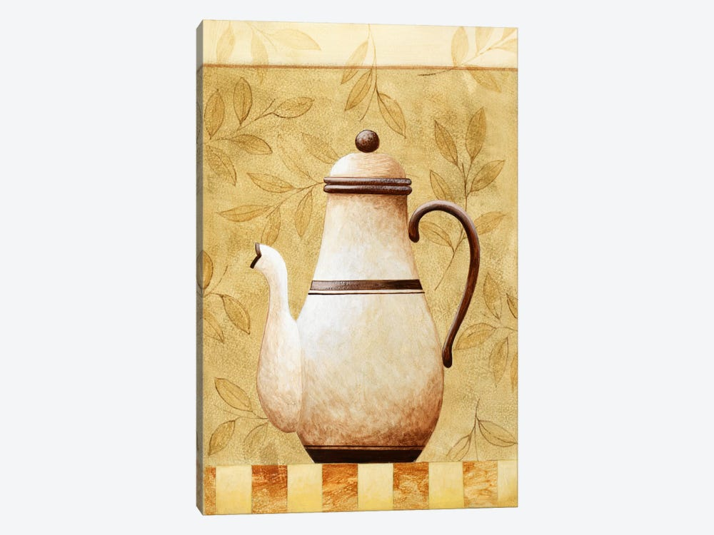 White Teapod by Pablo Esteban 1-piece Canvas Artwork