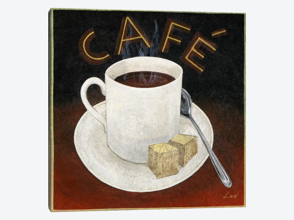 Cup of Coffee by Pablo Esteban 1-piece Canvas Art