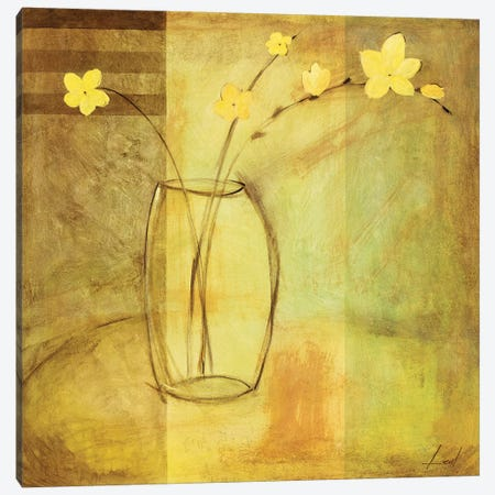 Yellow Flowers in Vase Canvas Print #9079} by Pablo Esteban Canvas Wall Art