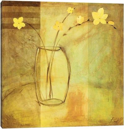 Yellow Flowers in Vase Canvas Art Print