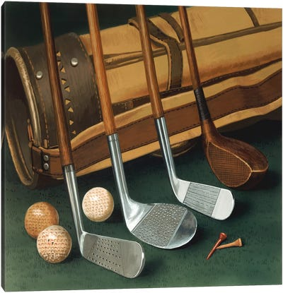 Club Line Up (Golf) Canvas Art Print