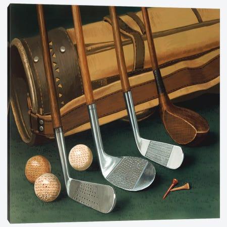 Club Line Up (Golf) Canvas Print #9088} by William Vanderdasson Canvas Art Print