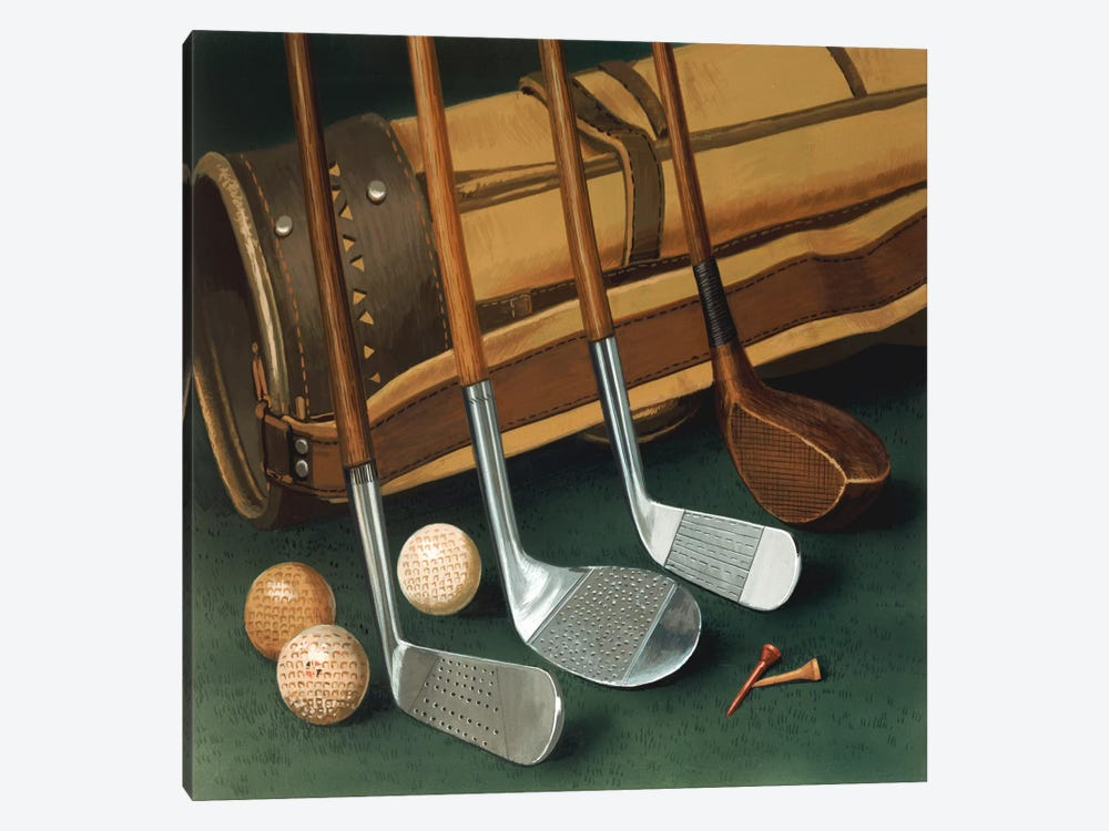 Club Line Up (Golf) by William Vanderdasson 1-piece Canvas Print