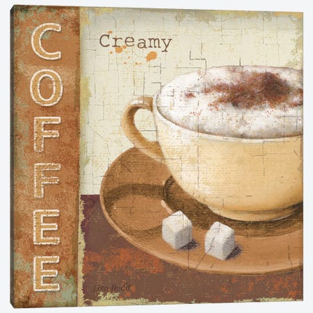 Coffee Lovers Canvas Print #9097} by Lisa Audit Art Print