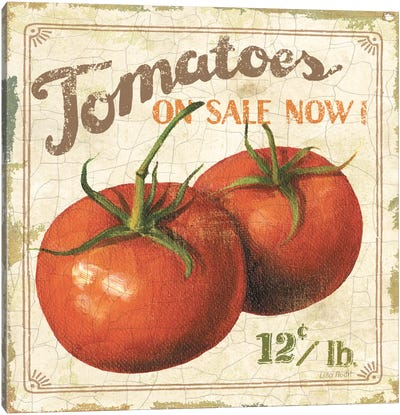 Tomatoes on Sale Now (On Special I) Canvas Art Print