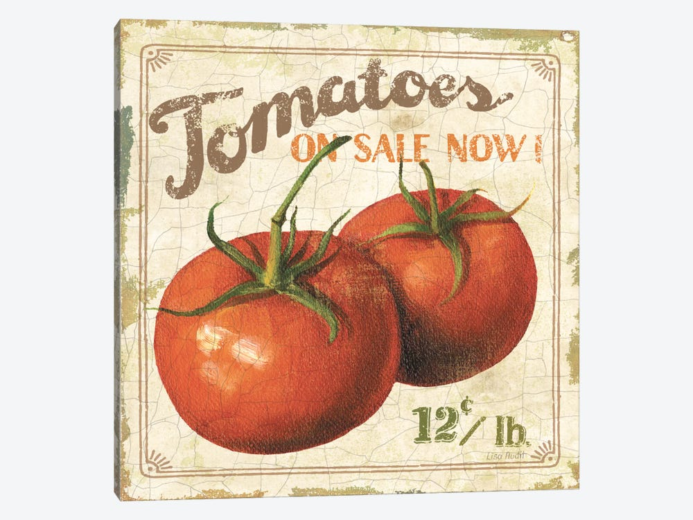 Tomatoes on Sale Now (On Special I) by Lisa Audit 1-piece Canvas Wall Art