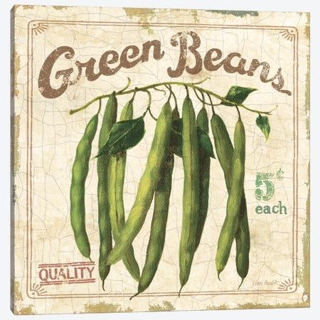 Green Beans (On Special II) Canvas Print #9099} by Lisa Audit Canvas Art