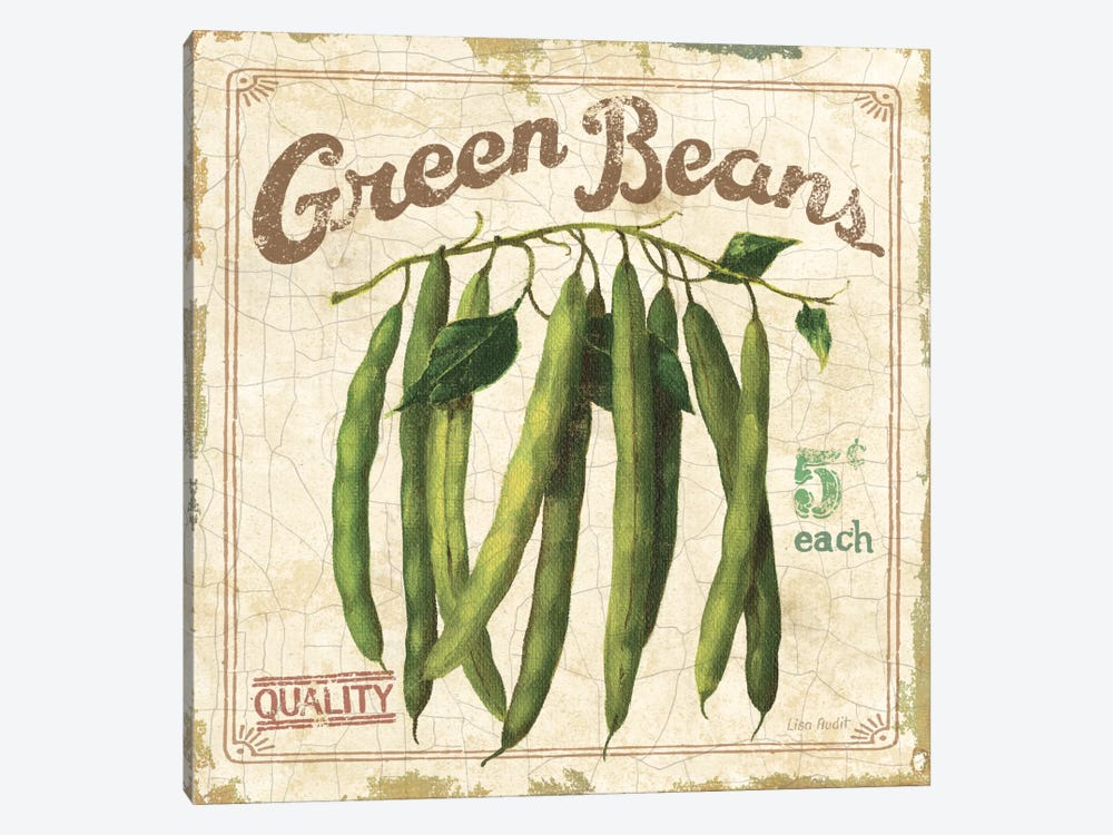 Green Beans (On Special II) by Lisa Audit 1-piece Canvas Art Print