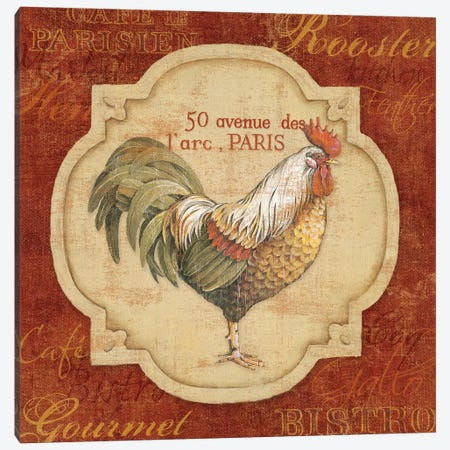 Rue De Rooster Canvas Print #9107} by Lisa Audit Canvas Art Print