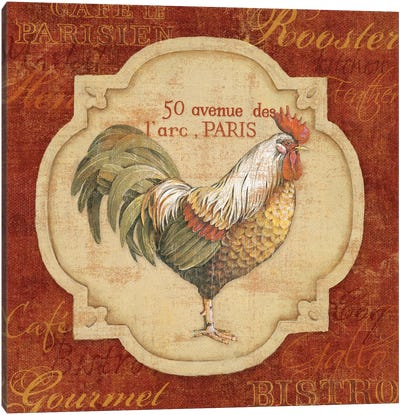 Rue De Rooster Canvas Art Print
