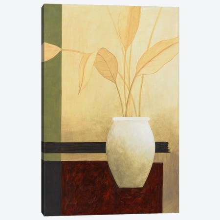White Vase on The Table Canvas Print #9113} by Pablo Esteban Canvas Art Print