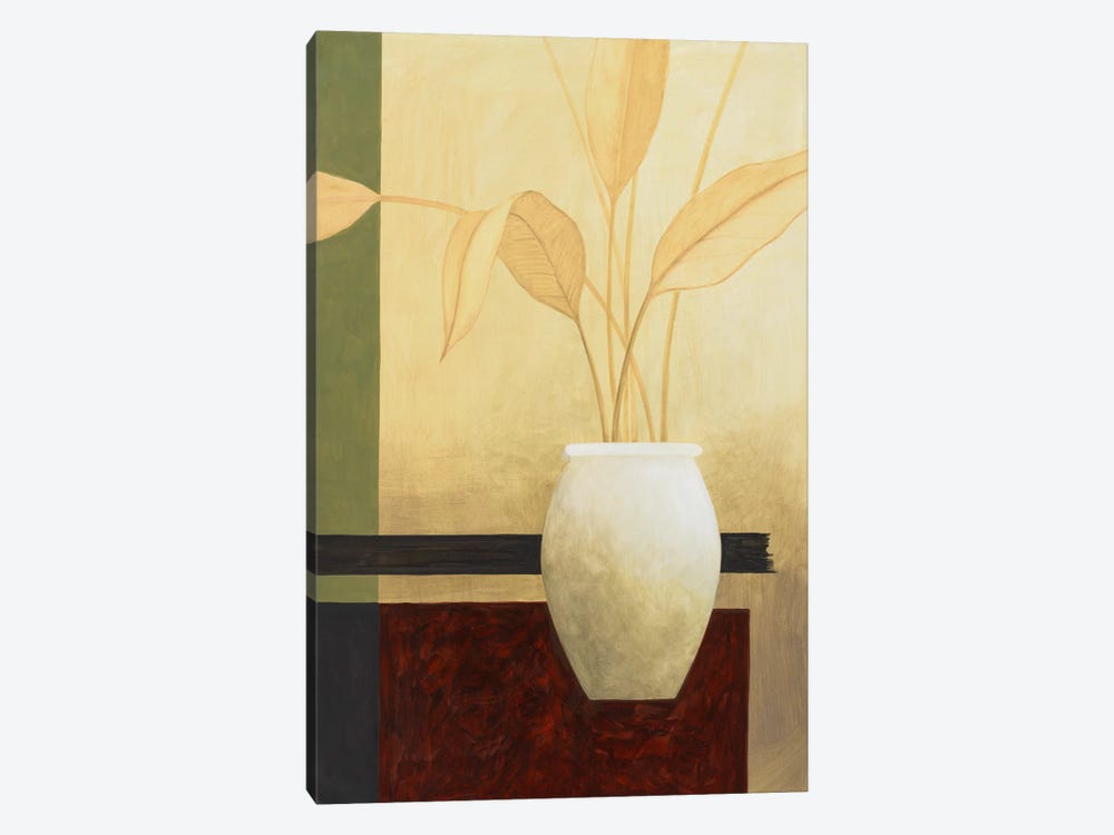 White Vase on The Table 1-piece Canvas Art
