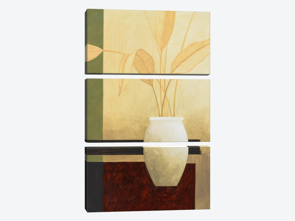 White Vase on The Table by Pablo Esteban 3-piece Canvas Art