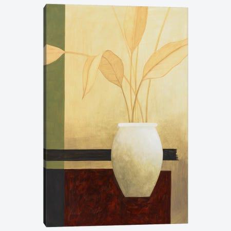White Vase on The Table Canvas Print #9113} by Pablo Esteban Canvas Art Print