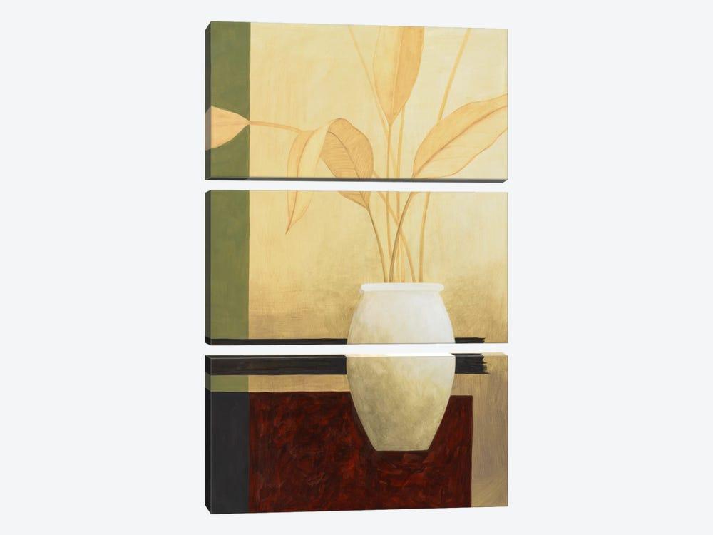 White Vase on The Table by Pablo Esteban 3-piece Canvas Art