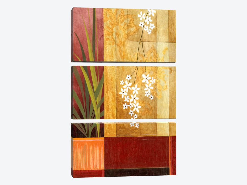 Plant in a Vase 3-piece Canvas Art Print