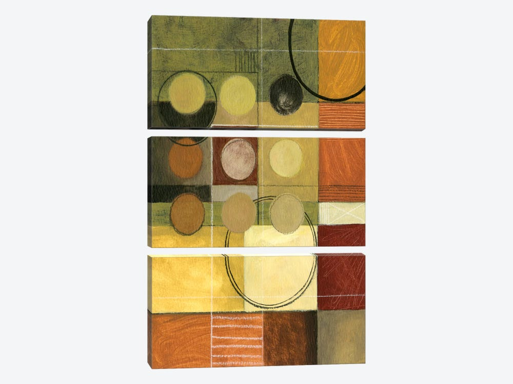 Color Collage II by Pablo Esteban 3-piece Canvas Wall Art