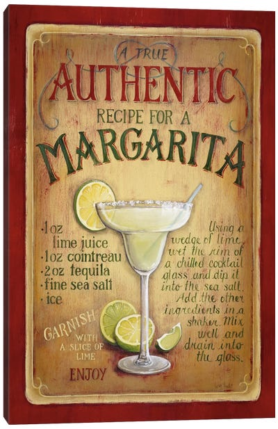 Authentic Margarita Canvas Art Print