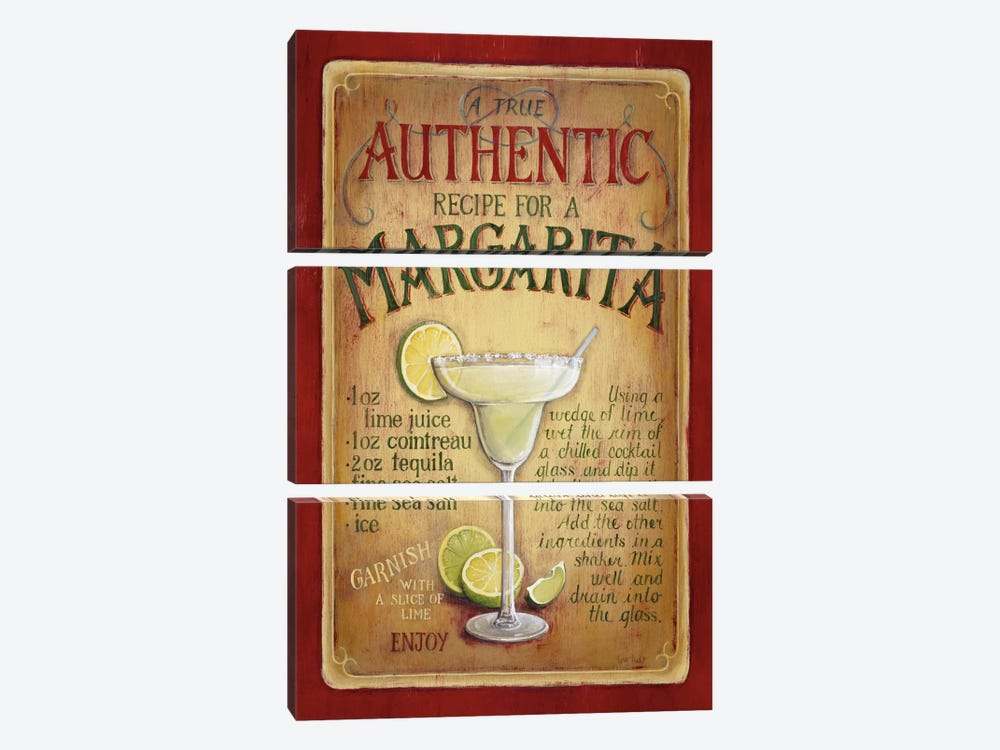 Authentic Margarita by Lisa Audit 3-piece Canvas Artwork