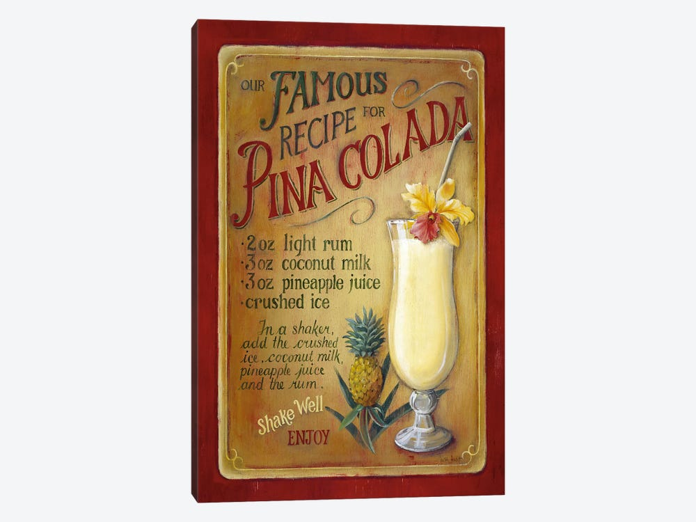 Famous Recipe for Pina Colada by Lisa Audit 1-piece Art Print