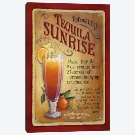 Tequila Sunrise Canvas Print #9122} by Lisa Audit Canvas Wall Art