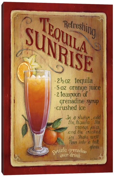Tequila Sunrise Canvas Art Print