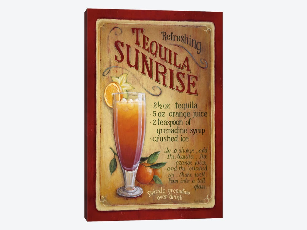 Tequila Sunrise by Lisa Audit 1-piece Canvas Art