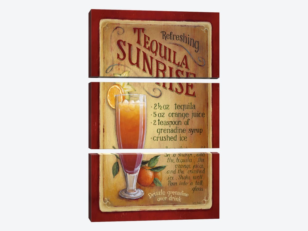 Tequila Sunrise by Lisa Audit 3-piece Canvas Artwork