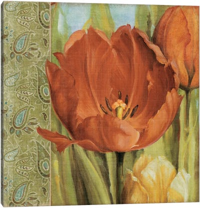 Tulip Paisley Canvas Print #9133
