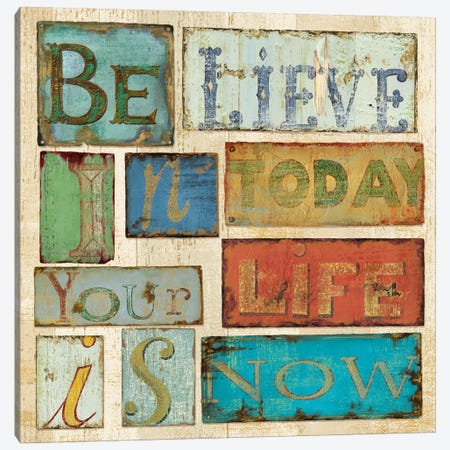 Believe & Hope Canvas Print #9137} by Daphne Brissonnet Canvas Wall Art