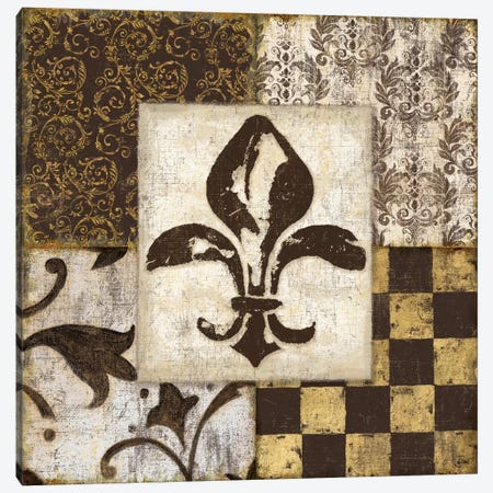 Fleur de Lis Canvas Print #9147} by Daphne Brissonnet Art Print