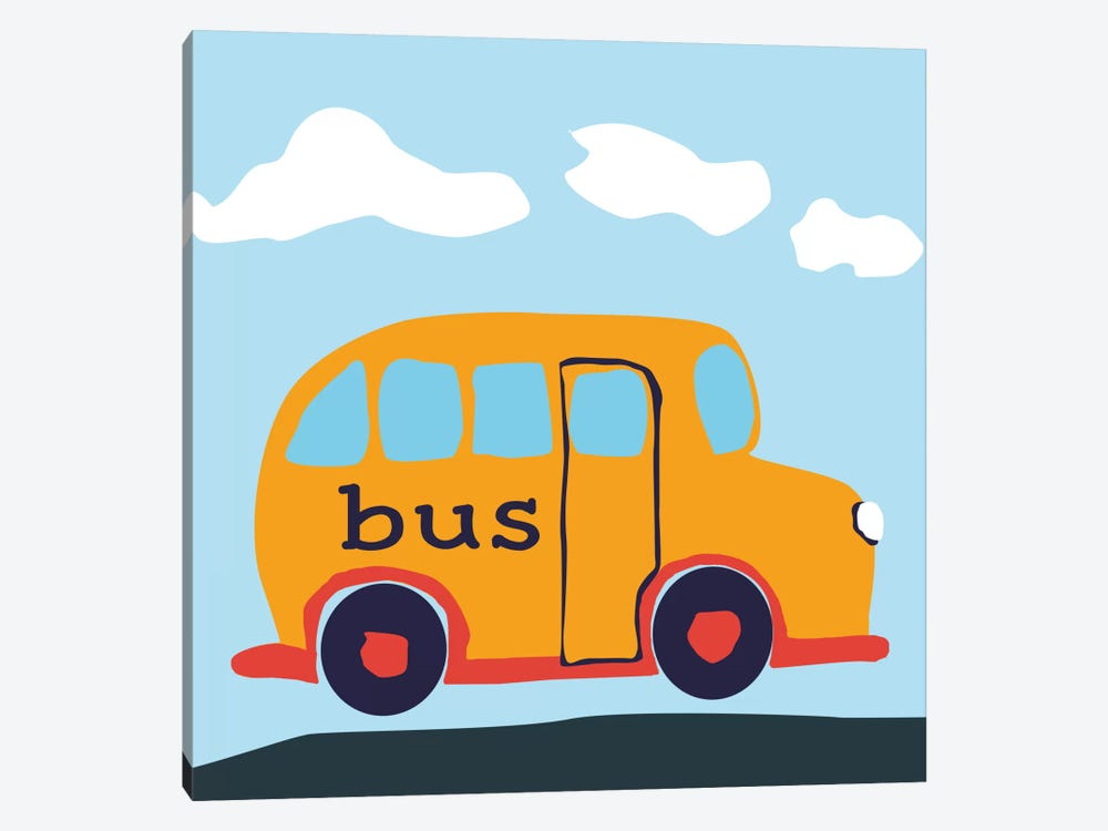 Yellow School Bus 1-piece Art Print