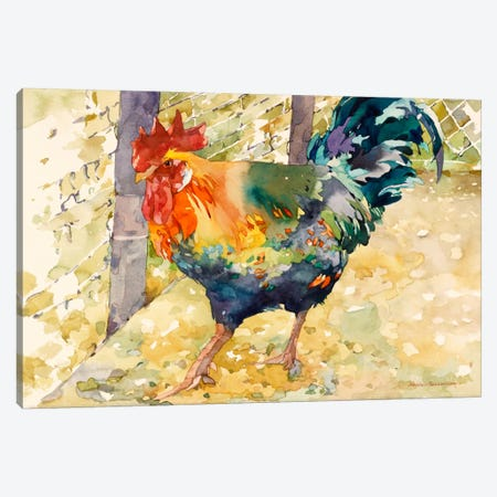 Colorful Rooster Canvas Print #9152} by Annelein Beukenkamp Canvas Print