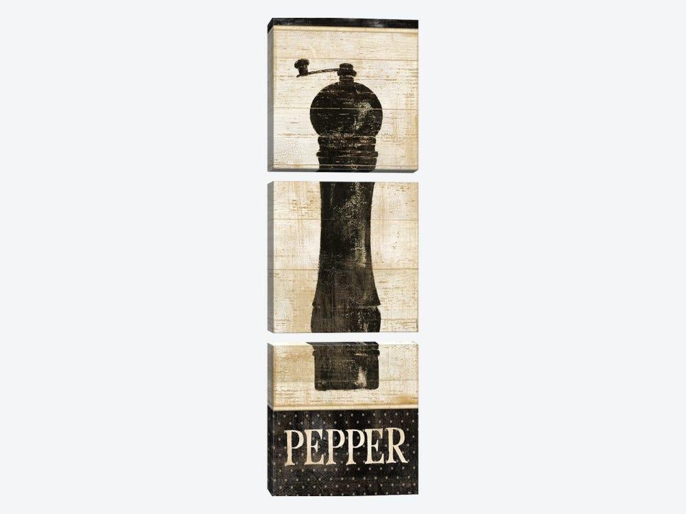 Salt & Pepper II by Daphne Brissonnet 3-piece Canvas Wall Art