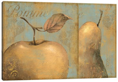Delicious (Apple & Pear) Canvas Art Print