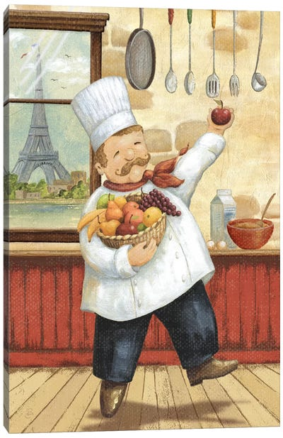 Happy Chef I Canvas Art Print