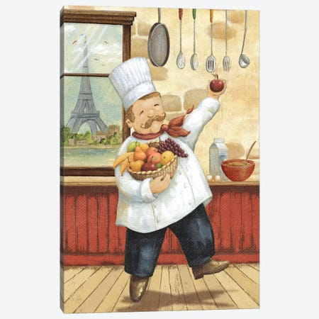 Happy Chef I Canvas Print #9165} by Daphne Brissonnet Art Print