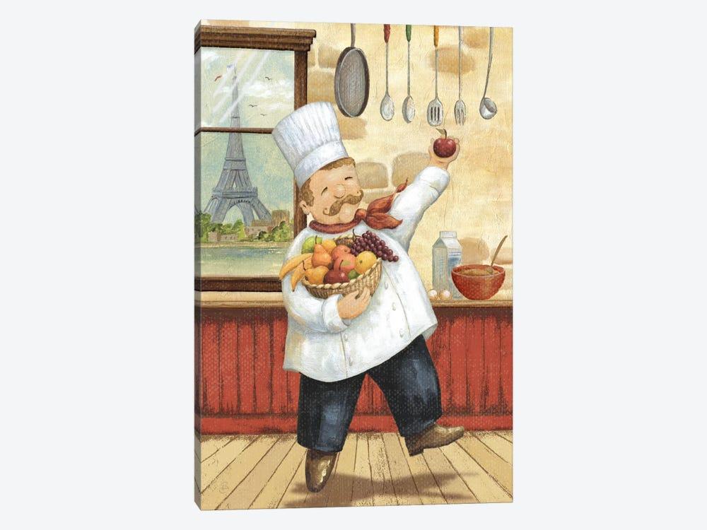 Happy Chef I by Daphne Brissonnet 1-piece Canvas Art Print
