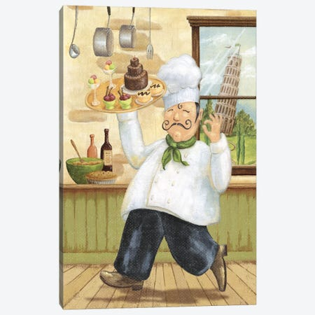 Happy Chef II Canvas Print #9166} by Daphne Brissonnet Canvas Art Print