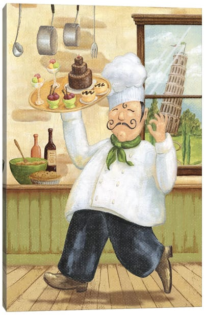 Happy Chef II by Daphne Brissonnet Canvas Art Print