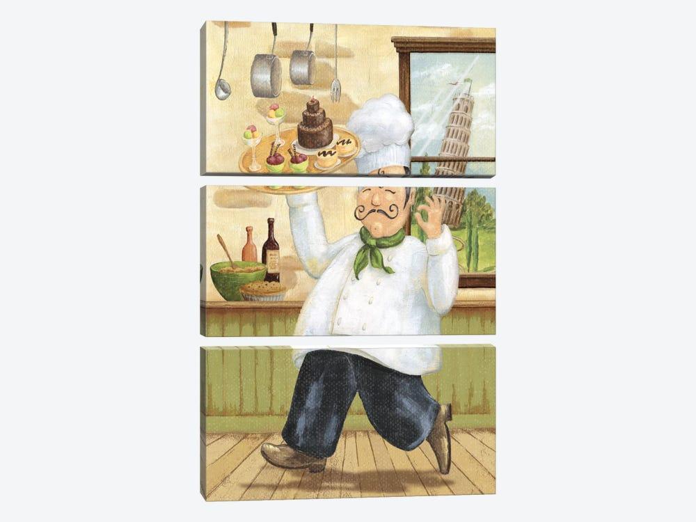 Happy Chef II by Daphne Brissonnet 3-piece Canvas Artwork