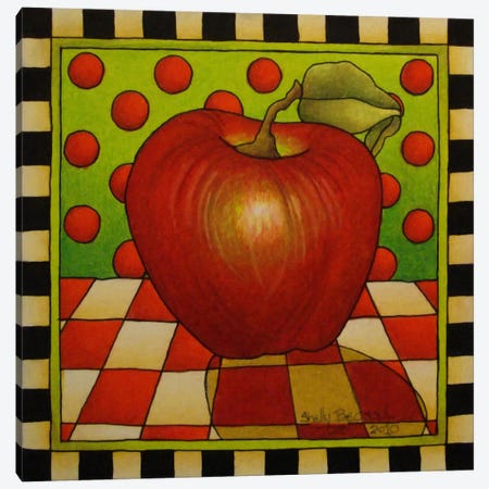 Be Bop a Lula Apple Canvas Print #9172} by Shelly Bedsaul Canvas Print