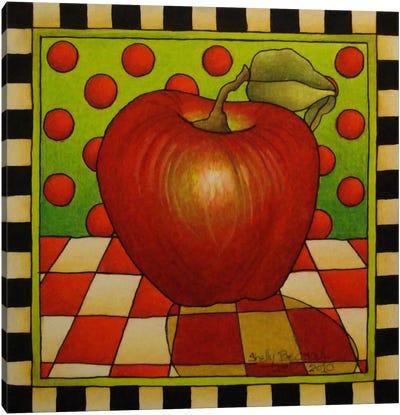 Be Bop a Lula Apple Canvas Art Print