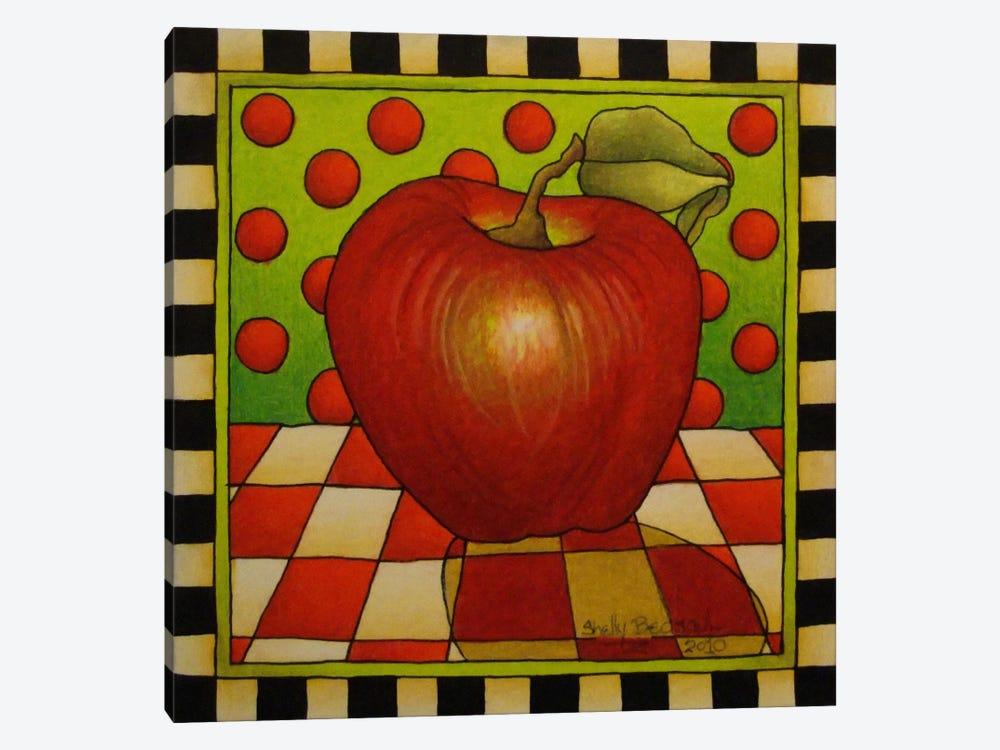 Be Bop a Lula Apple by Shelly Bedsaul 1-piece Canvas Art Print