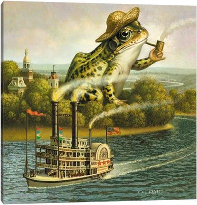 Mark Twain (Frog) Canvas Art Print